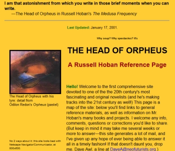 The Head of Orpheus in 2001 screenshot